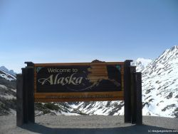 Welcome to Alaska and the Gateway to the Klondike Sign in Skagway.jpg