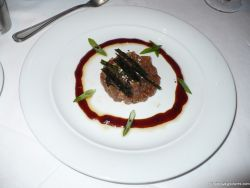 Tuna tartare with seaweed and seasame seeds appetizer aboard the Norwegian Pearl.jpg