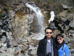 David and Joann in front of waterfall in Skagway Alaska.jpg