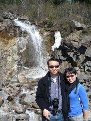 David and Joann in front of waterfall in Skagway Alaska (2).jpg