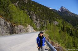 Joann on the side of the road in Skagway 2.jpg