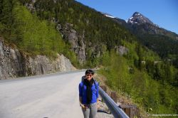 Joann on the side of the road in Skagway Alaska.jpg